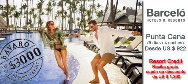 Tour Punta Cana con Hoteles Barcelo todo incluido