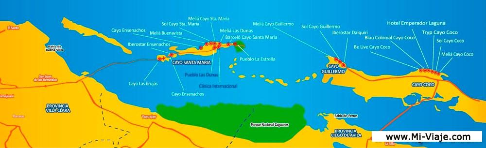 Cayo Largo Cuba Mapa.Mapa De Cayo Santa Maria