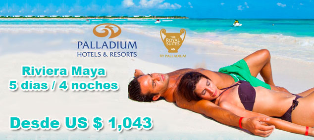 Tour en Riviera Maya con Palladium todo incluido